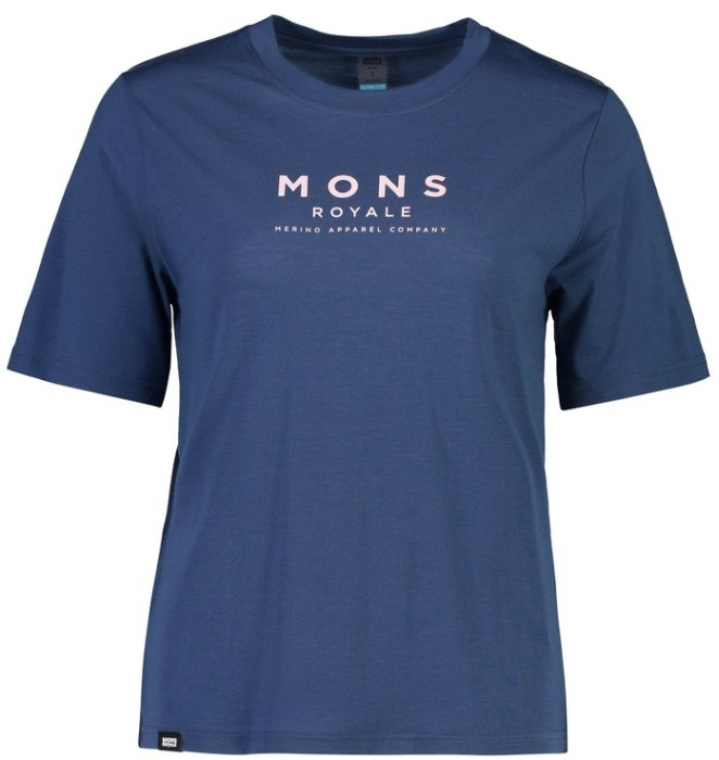 Mons Royale W Icon relaxed tee dark denim