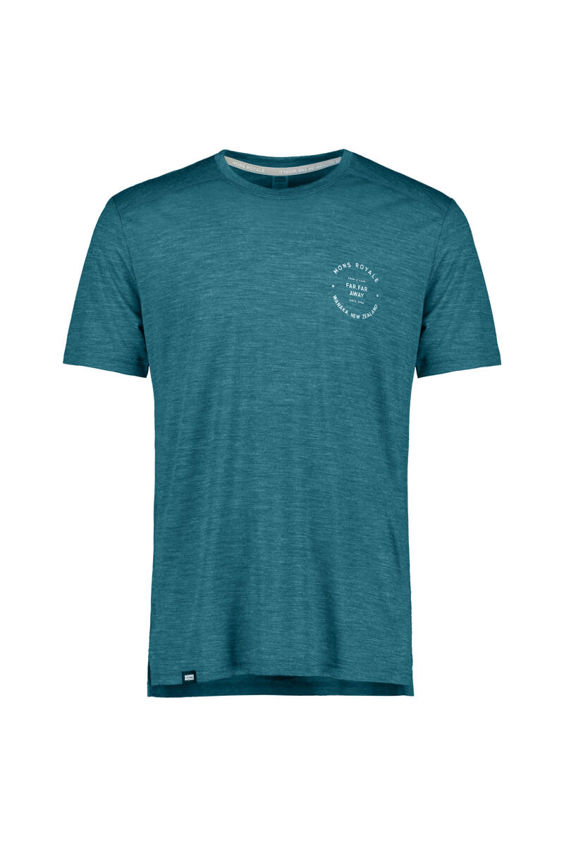 Mons Royale Mens Vapour tee teal