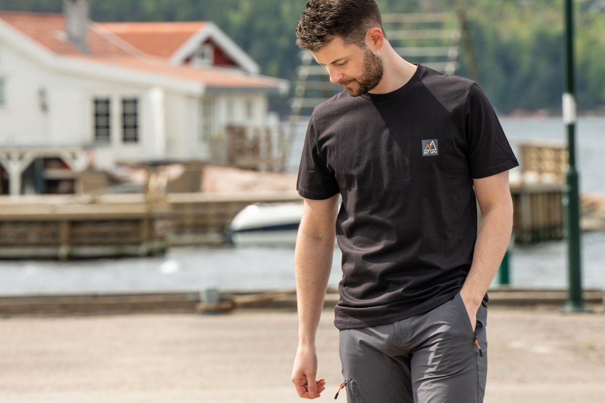 Nansen Klassisk t-skjorte Sort