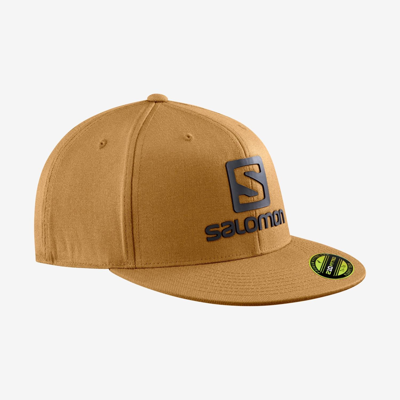 Salomon Logo cap flexfit brown