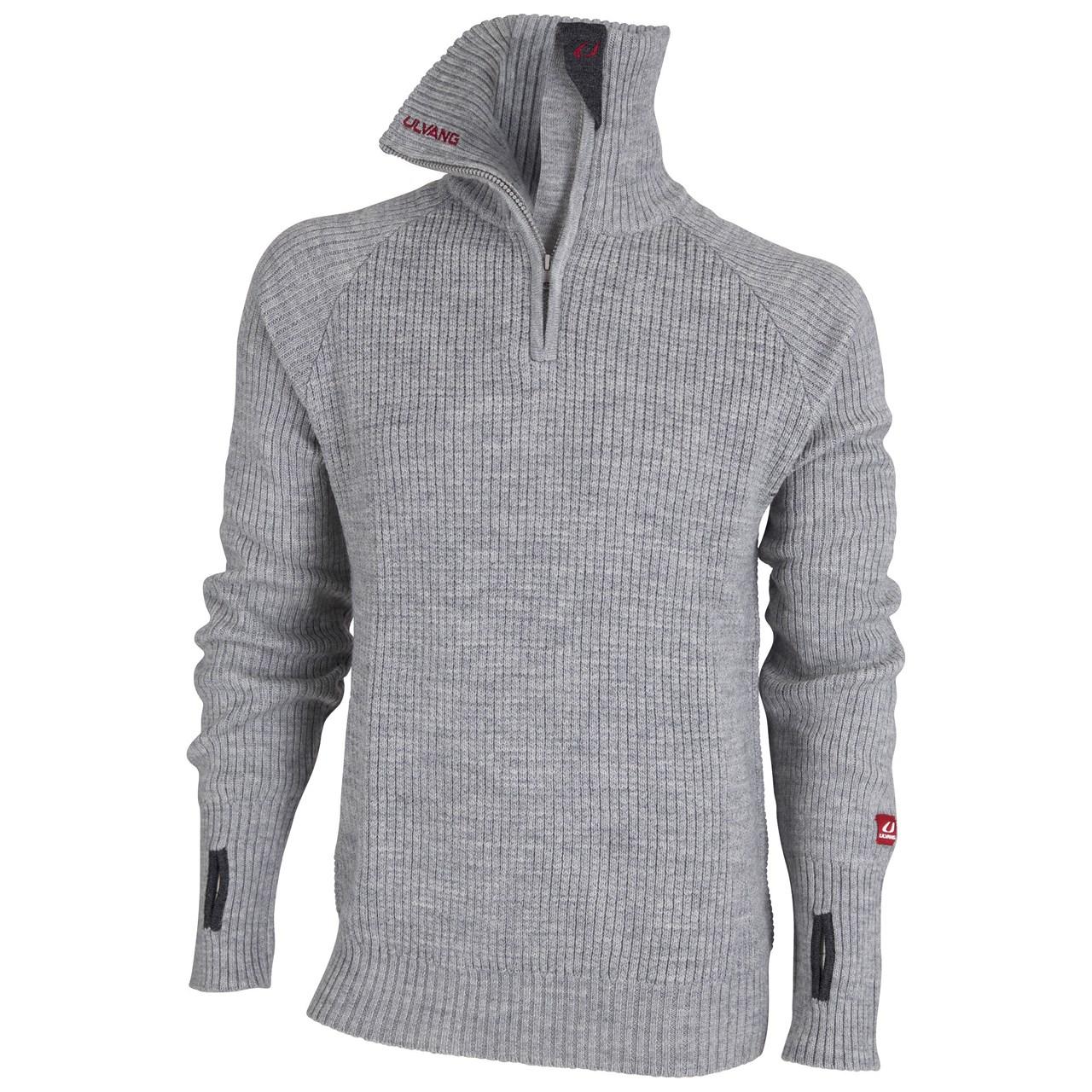 Ulvang Rav sweater w/zip grey