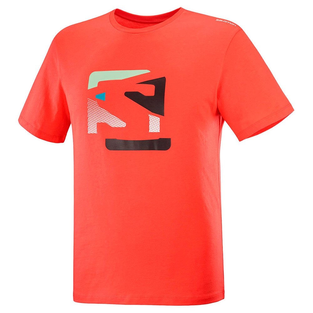 Salomon Graphic Disruptet Hot Coral T-skjorte