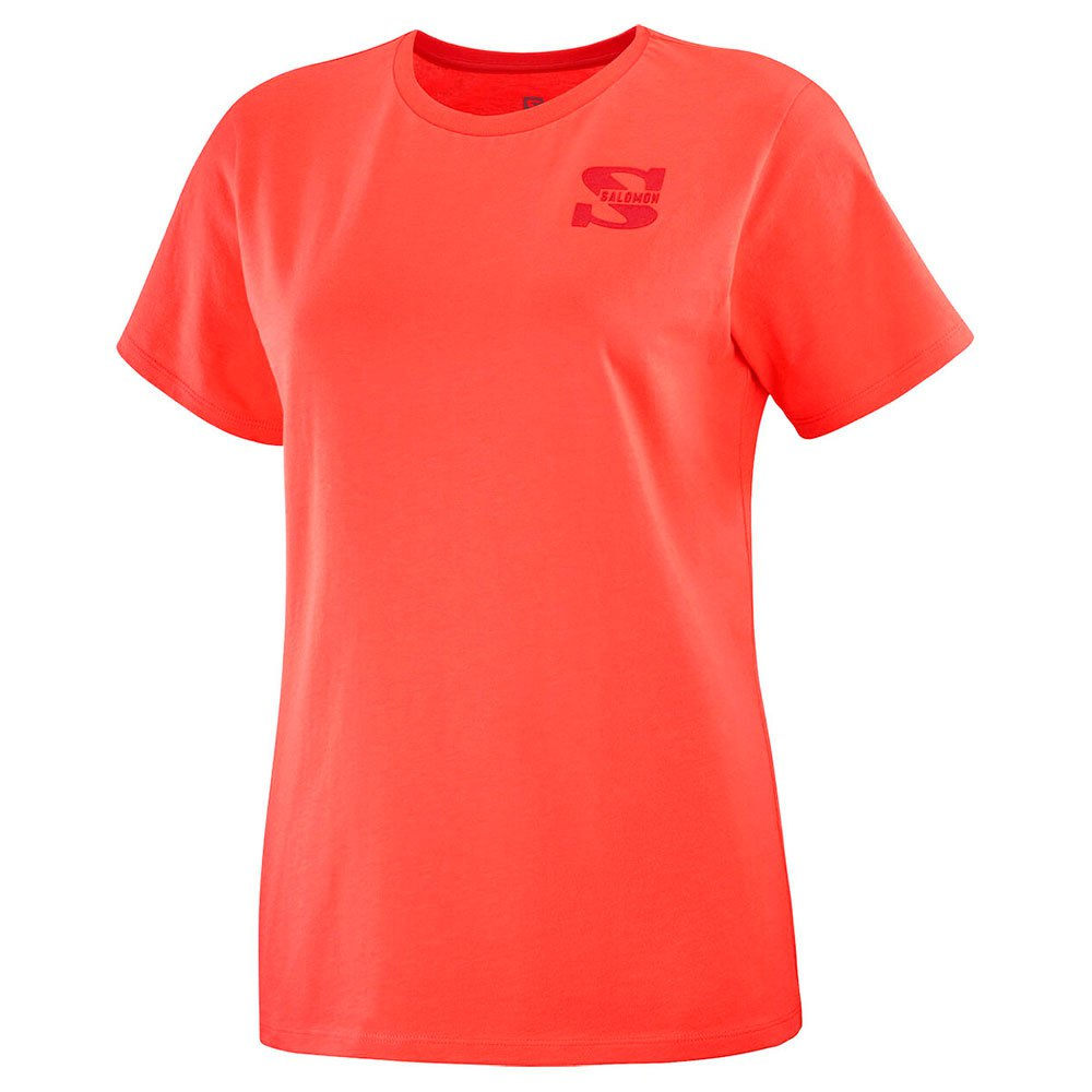 Salomon Outlife Small Logo Tee W Hot Coral