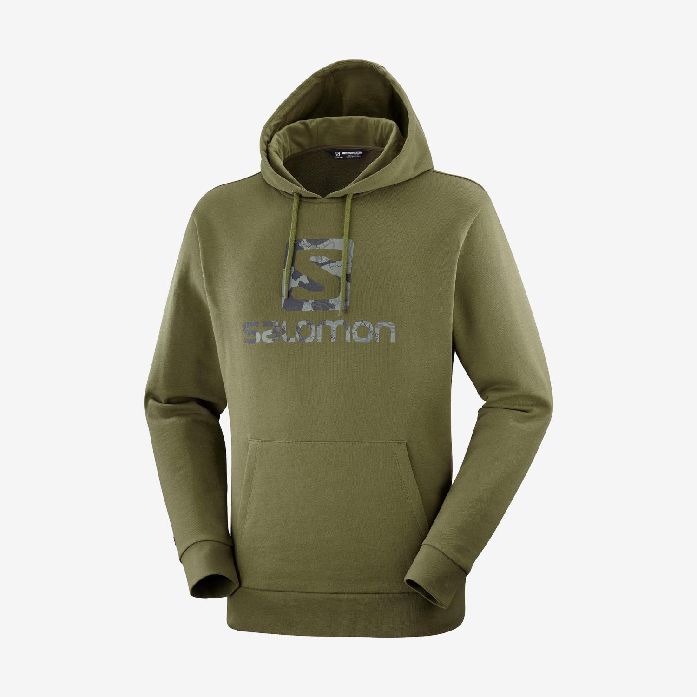 Salomon Outlife pullover hoody green