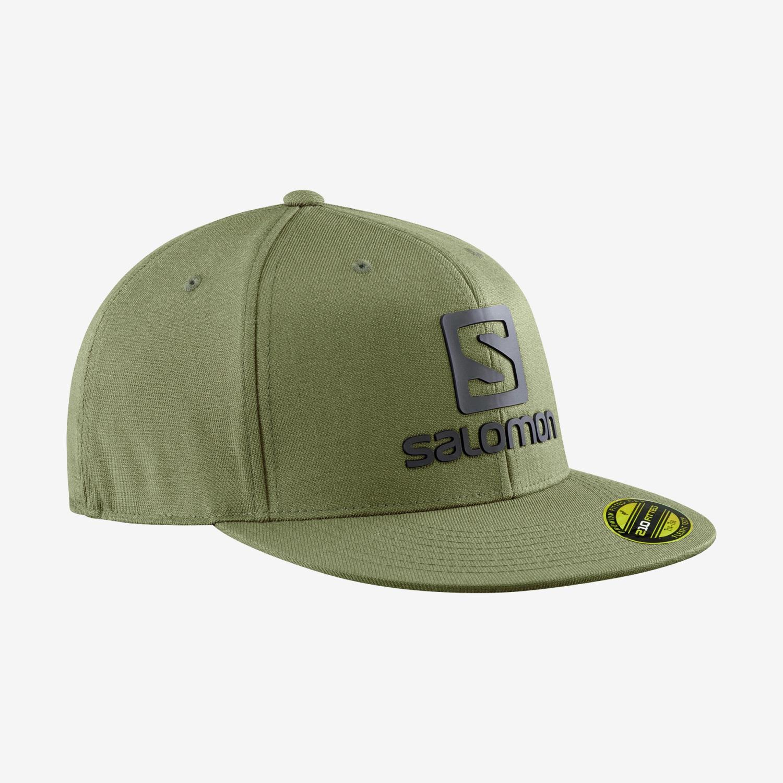 Salomon logo cap olive