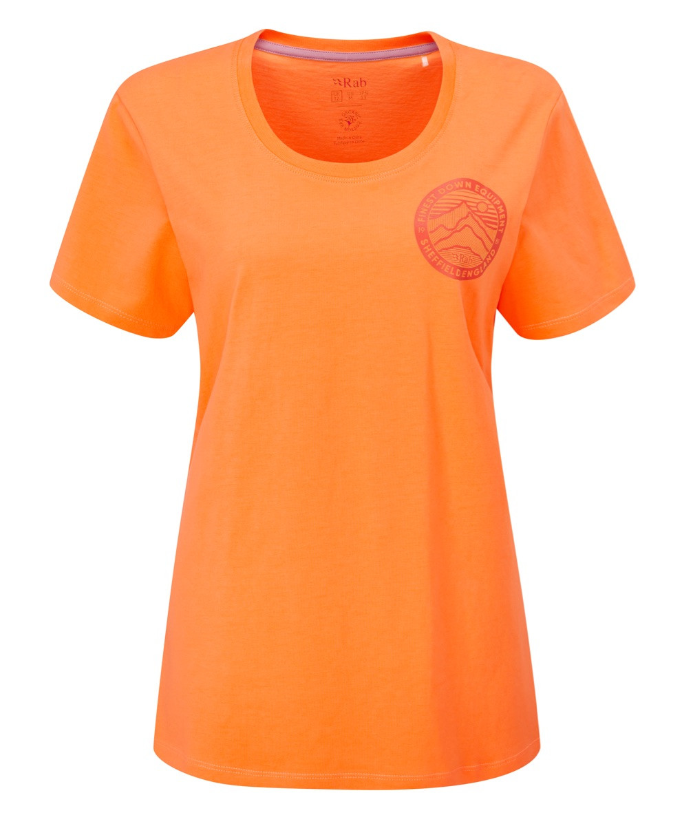 Rab Stance 3 peaks tee W orange