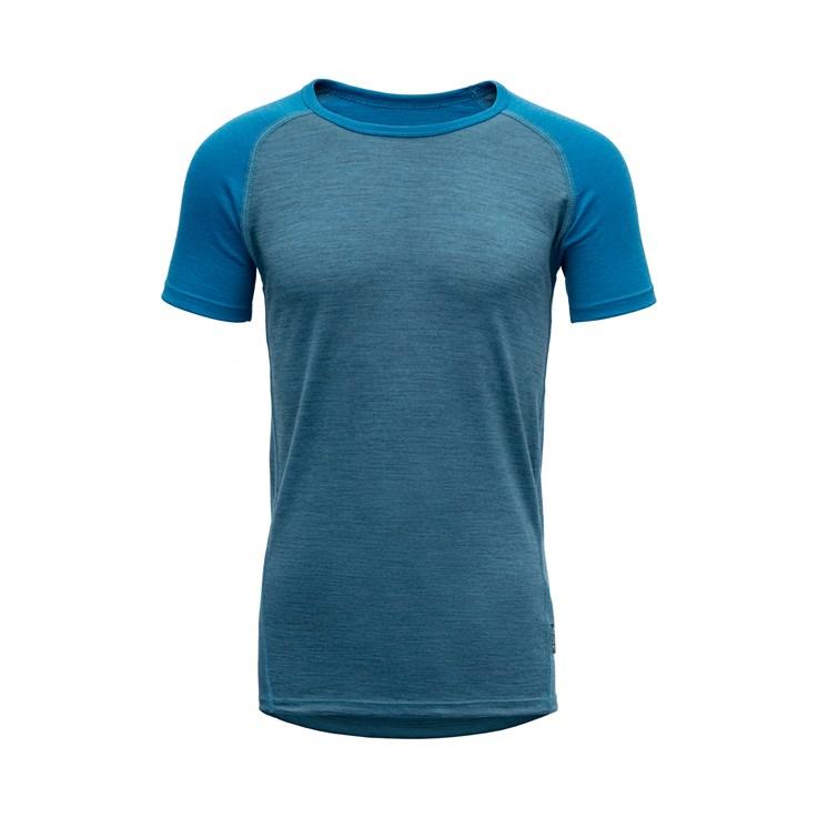 Devold Breeze junior t-shirt blue