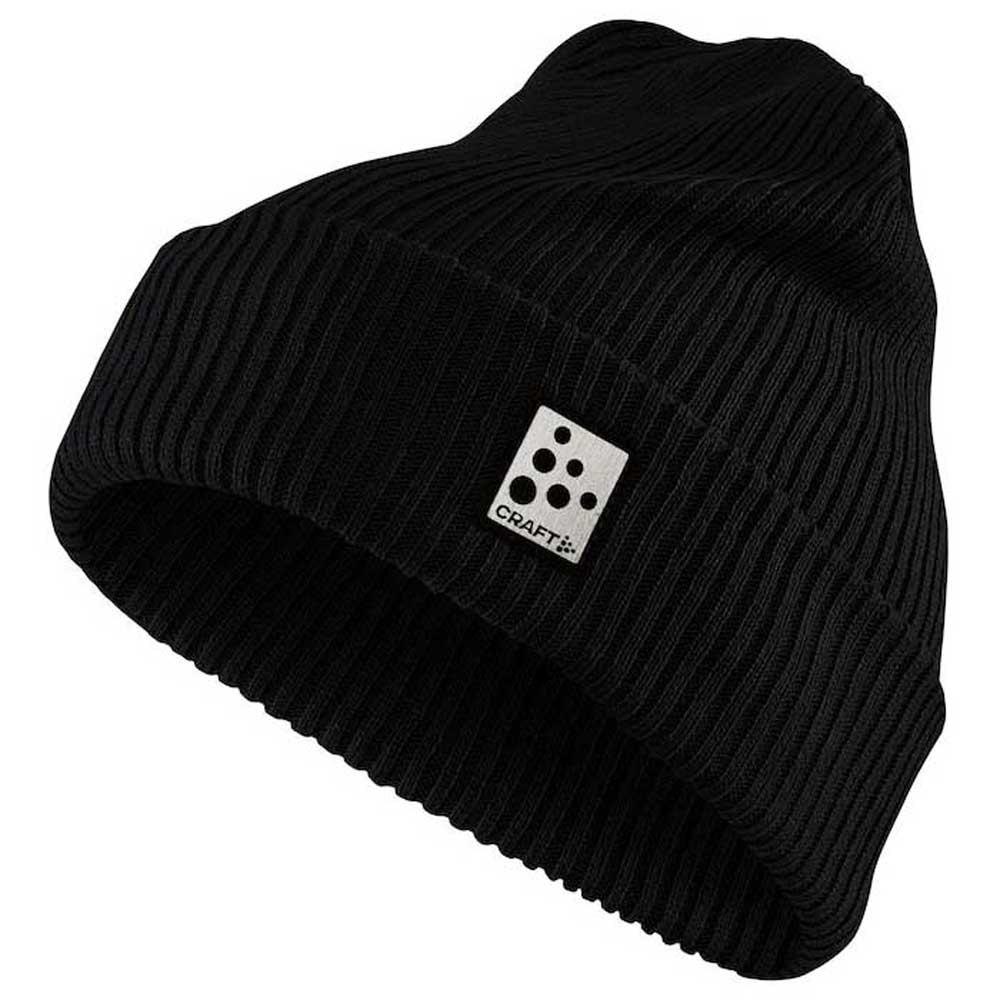 Craft Core rib knit hat black