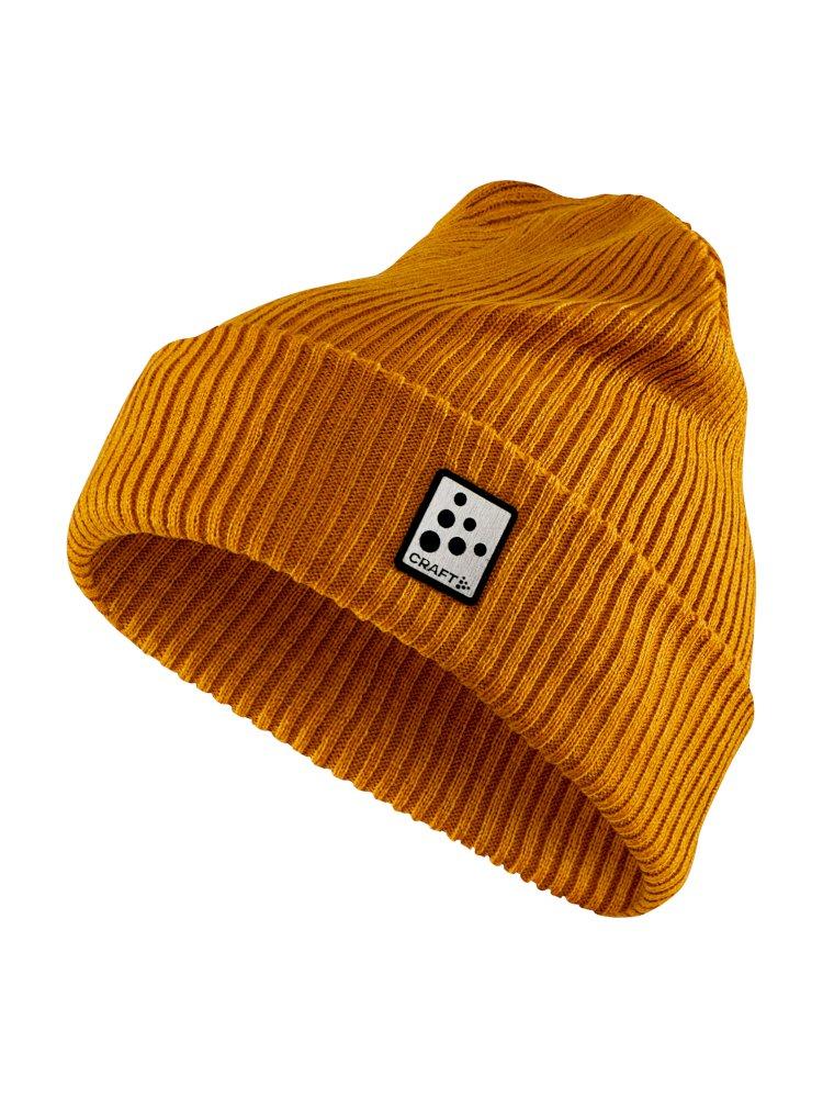 Craft Rib knit hat tawny
