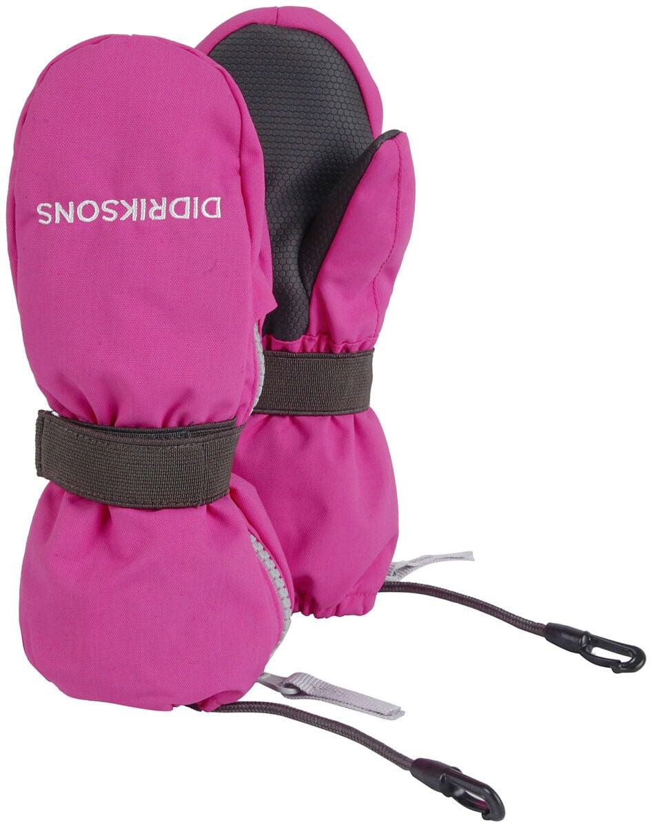 Didriksons Biggles zip mitten rosa
