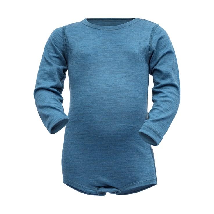 Devold Breeze baby body blue melange