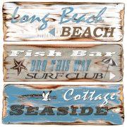 Serviett beach signs