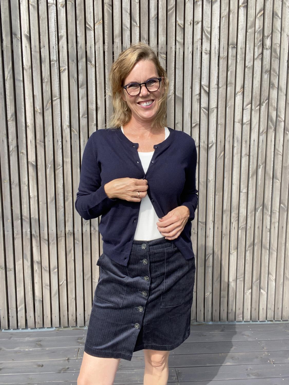 Tess Cordskjørt Dark Navy