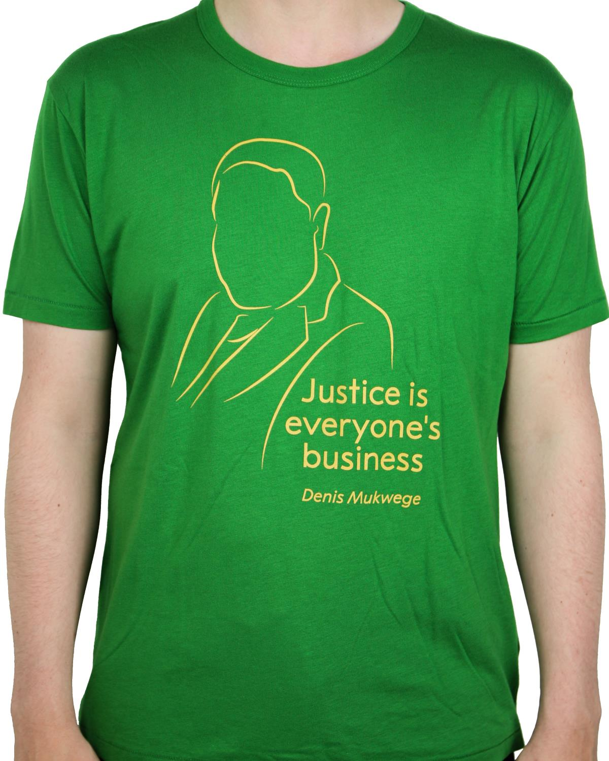"T-shirt ""Justice is everyones business"""