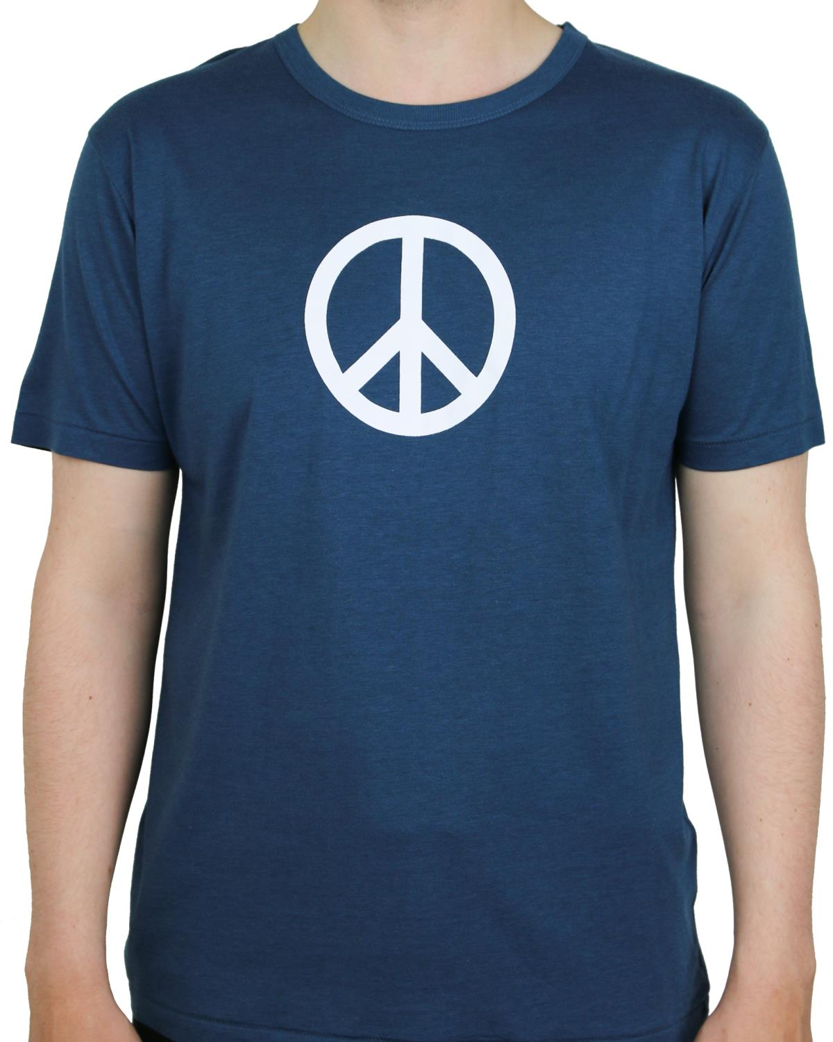 T-shirt Denimblue Peace