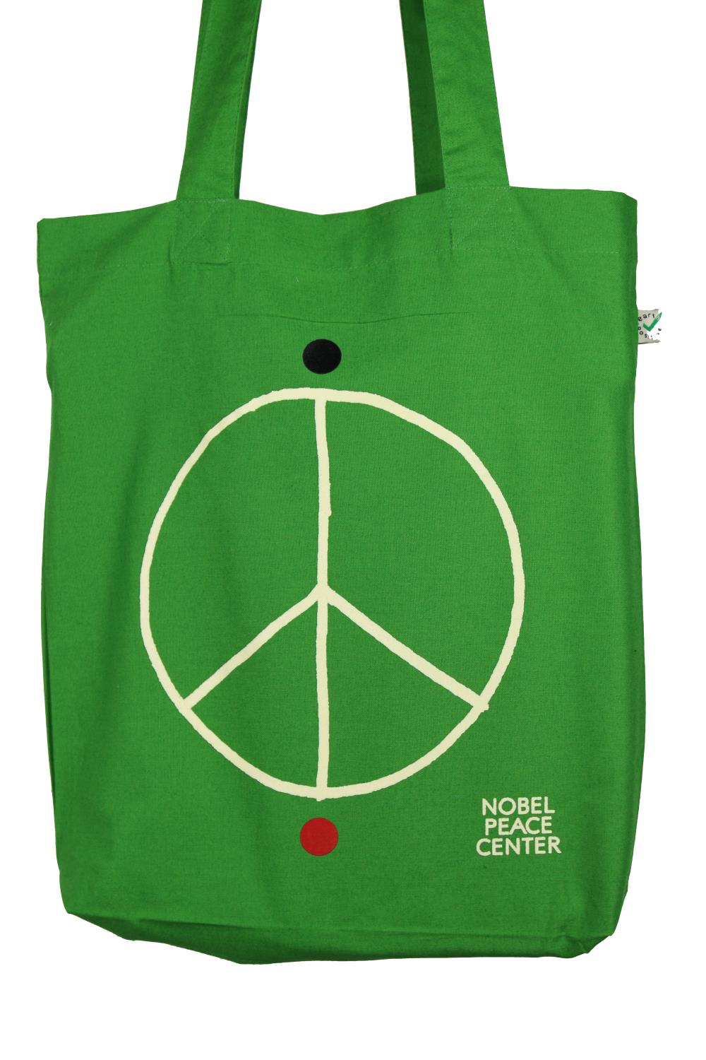 Handlenett Peace sign green