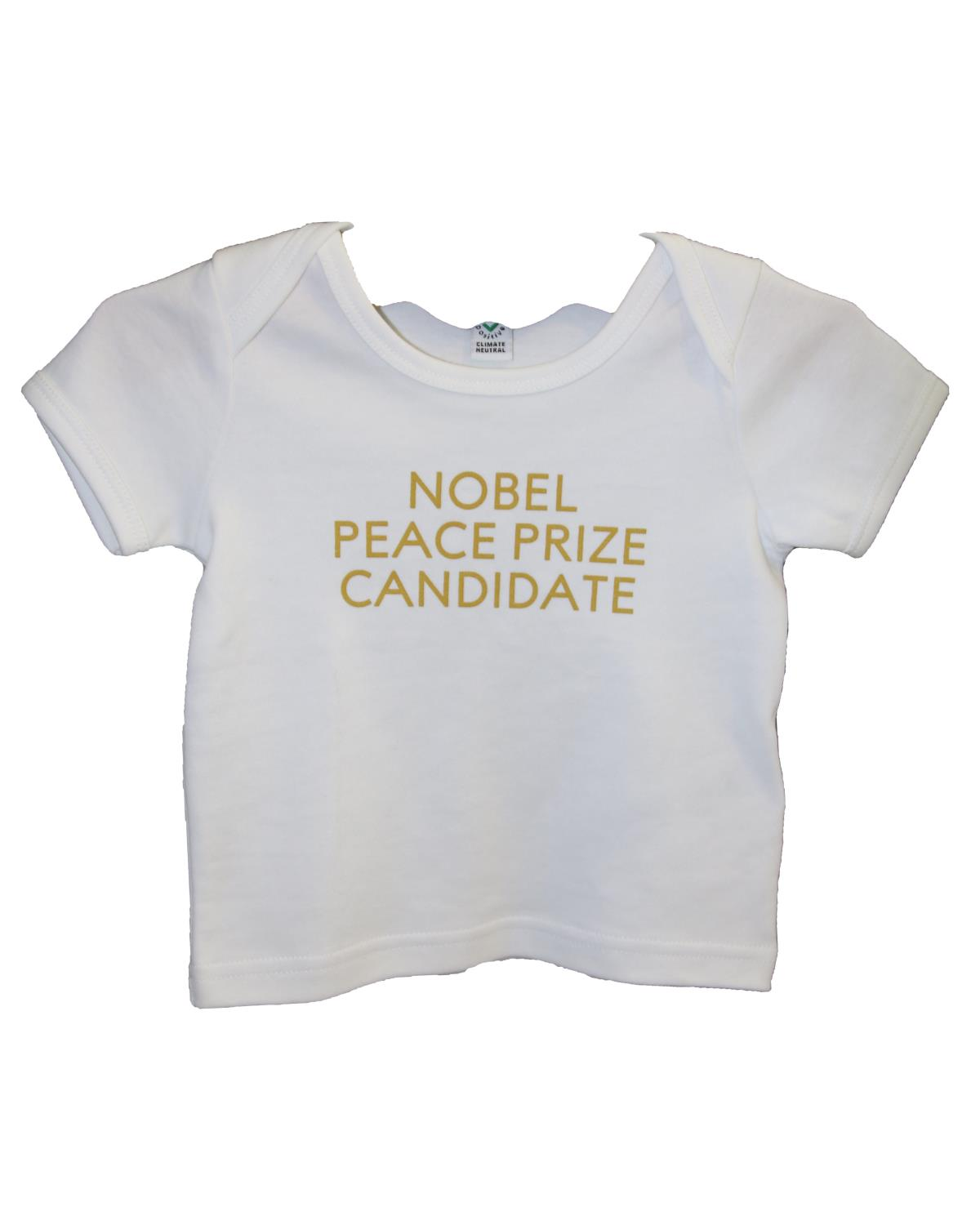 Baby's T-shirt Nobel Peace Prize Candidate White