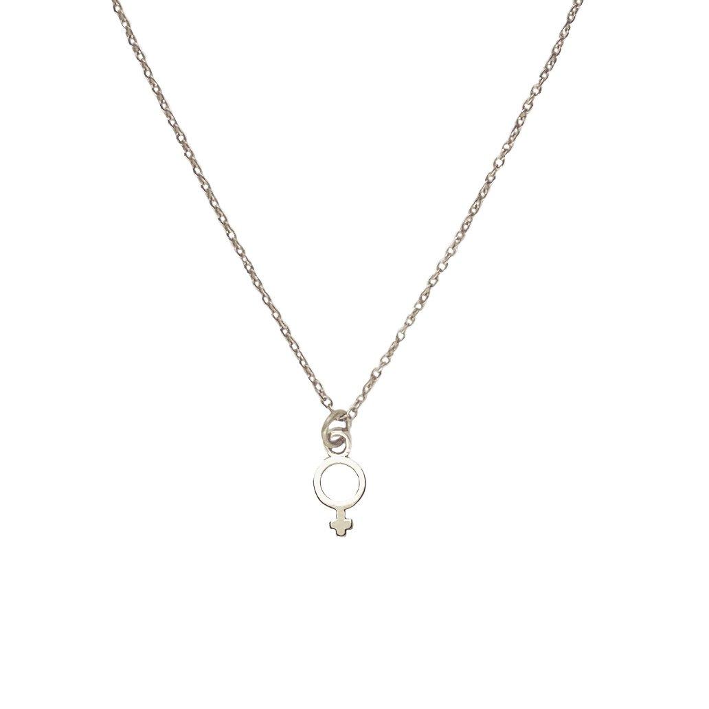 Virtue Necklace Silvertoned Brass