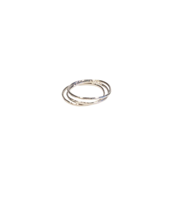 Trinity knuckle rings Rhodium
