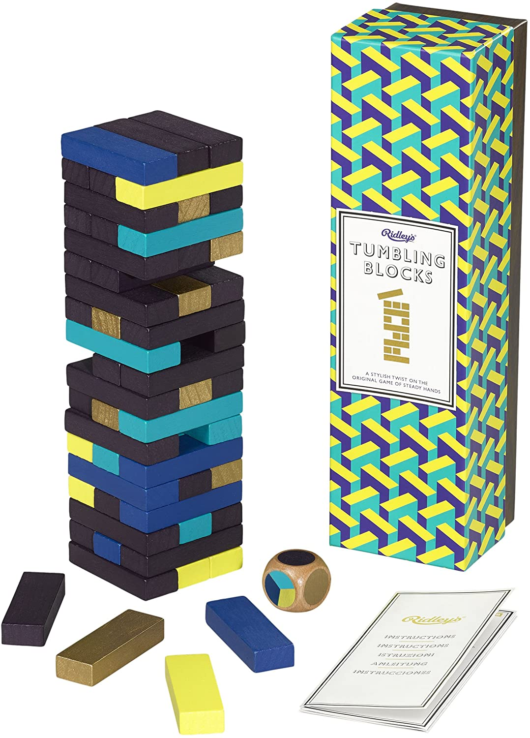 Ridleys Tumbling Blocks w/colours and dice