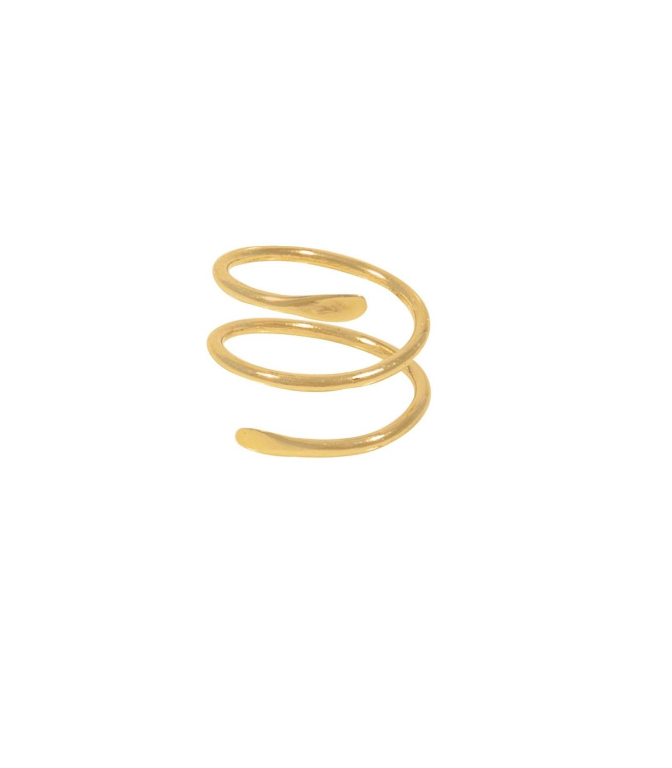 Goldie Ring Goldtoned Brass