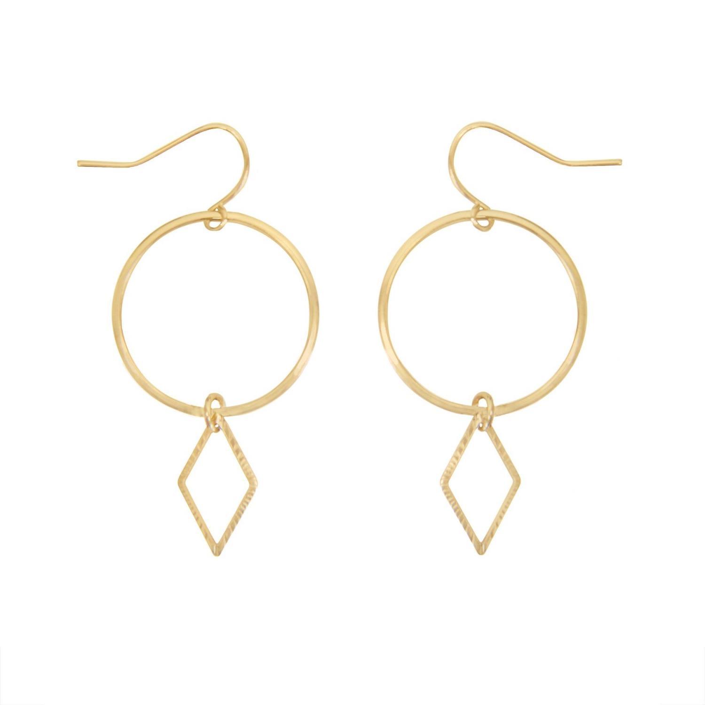 Annelise Earrings Goldtoned Brass