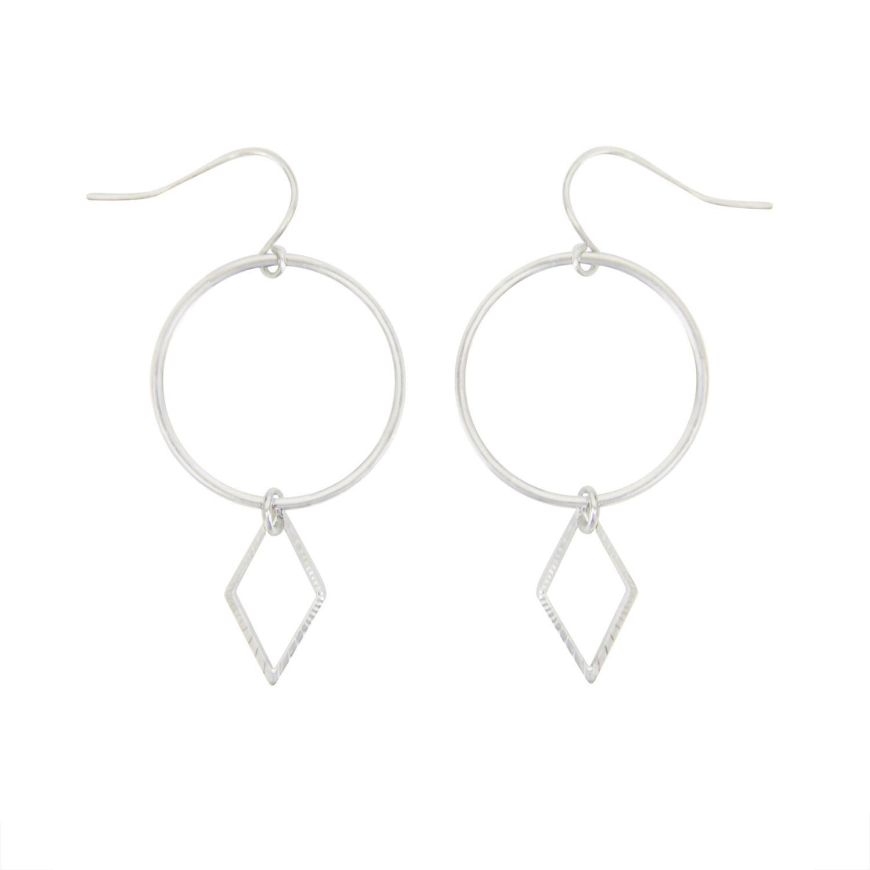 Annelise Earrings Silvertoned Brass