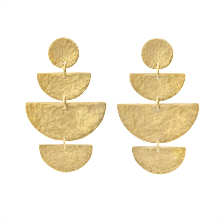 Prima Earrings Goldtoned Brass