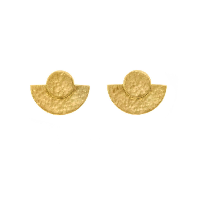Prima Stud Goldtoned Brass