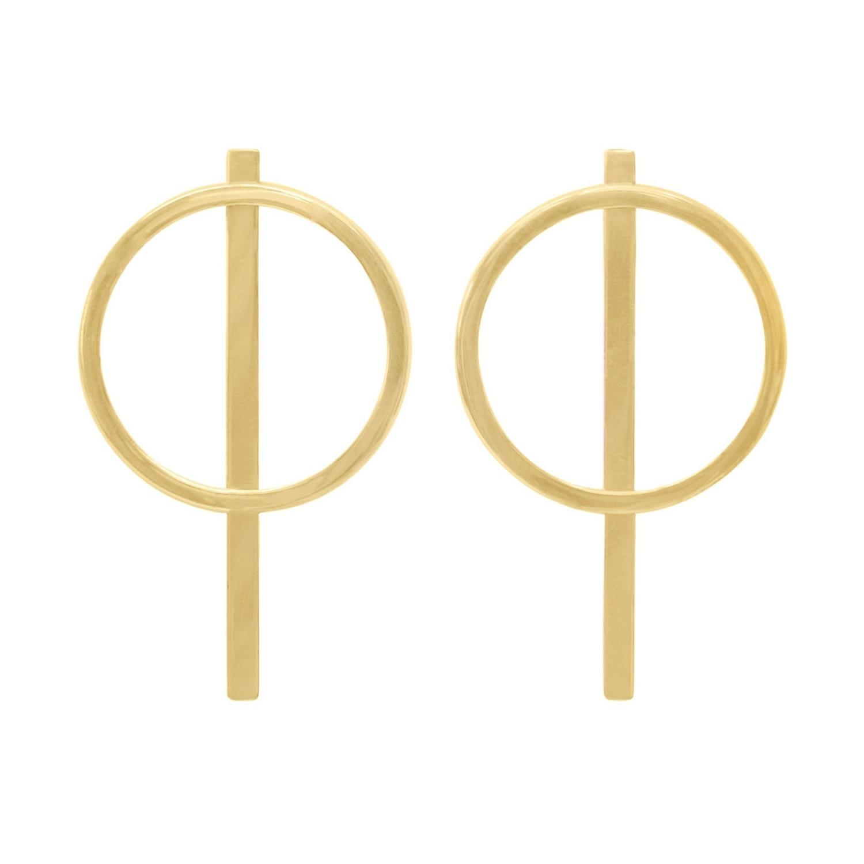 Unison Earrings Goldtoned Brass