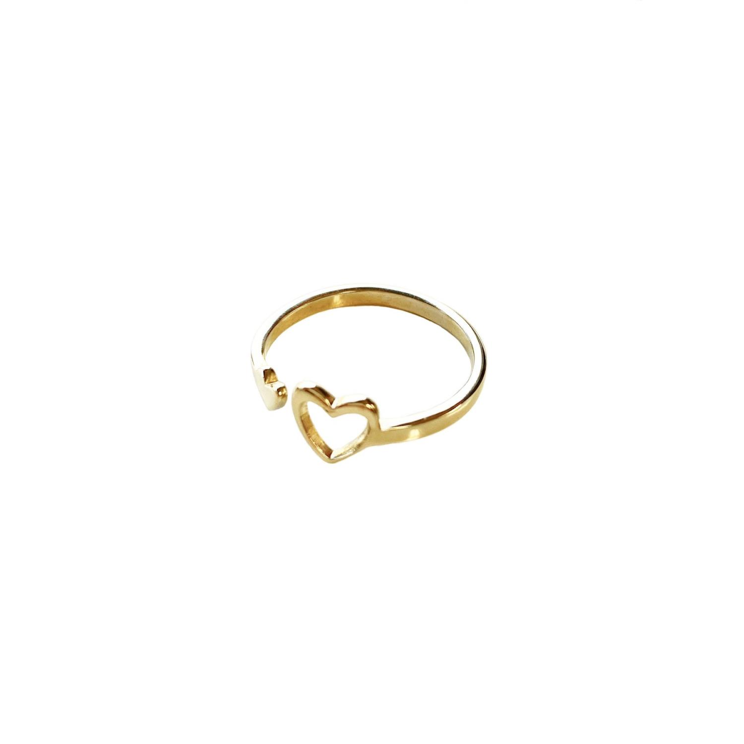 Miracle Heart Ring Goldtoned Brass