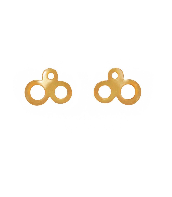 Isle Stud Goldtoned Brass