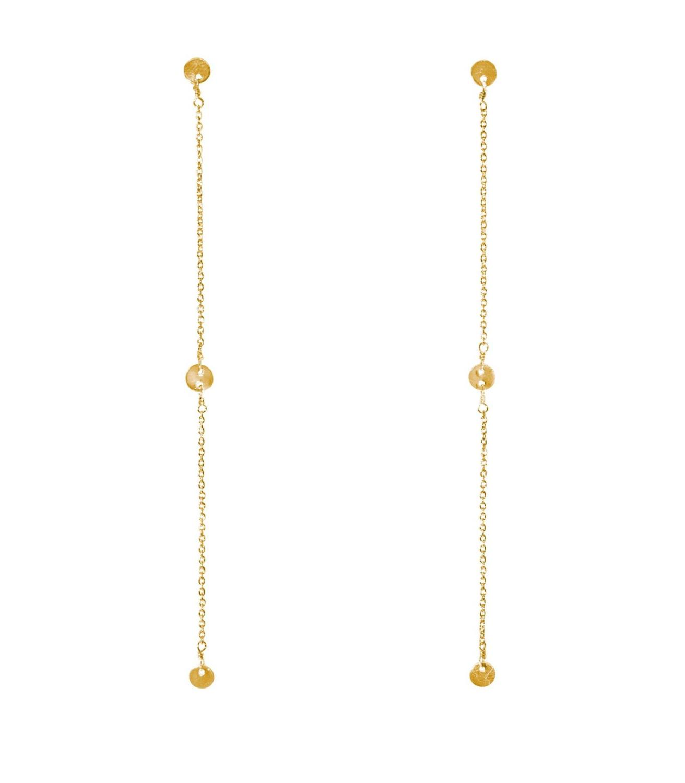 Golden Coast Earrings Goldtoned Brass