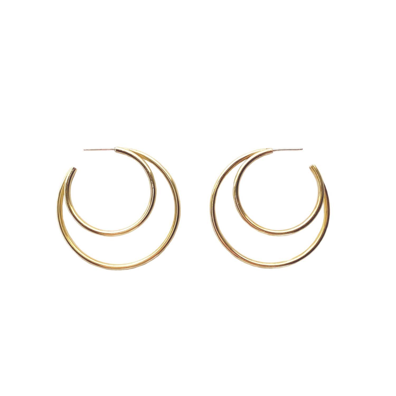 Verve Earrings Goldtoned Brass