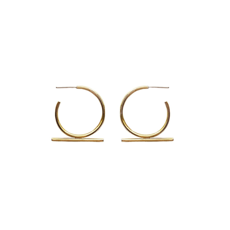 Moxie Earrings Goldtoned Brass