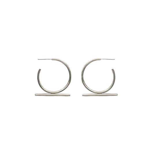 Moxie Earrings Silvertoned Brass
