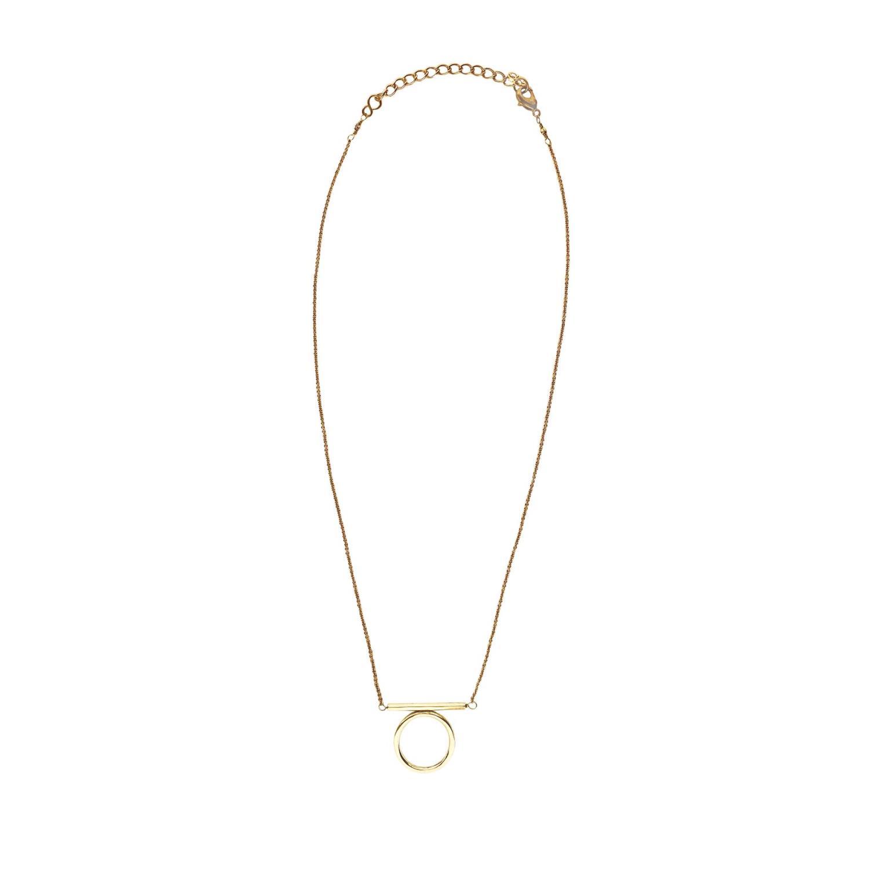 Moxie Necklace Goldtoned Brass