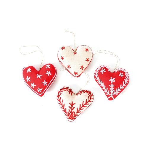 Christmas Hearts 4pkg