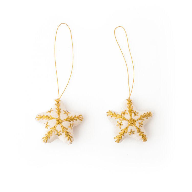 Christmas Stars Gold 2pkg
