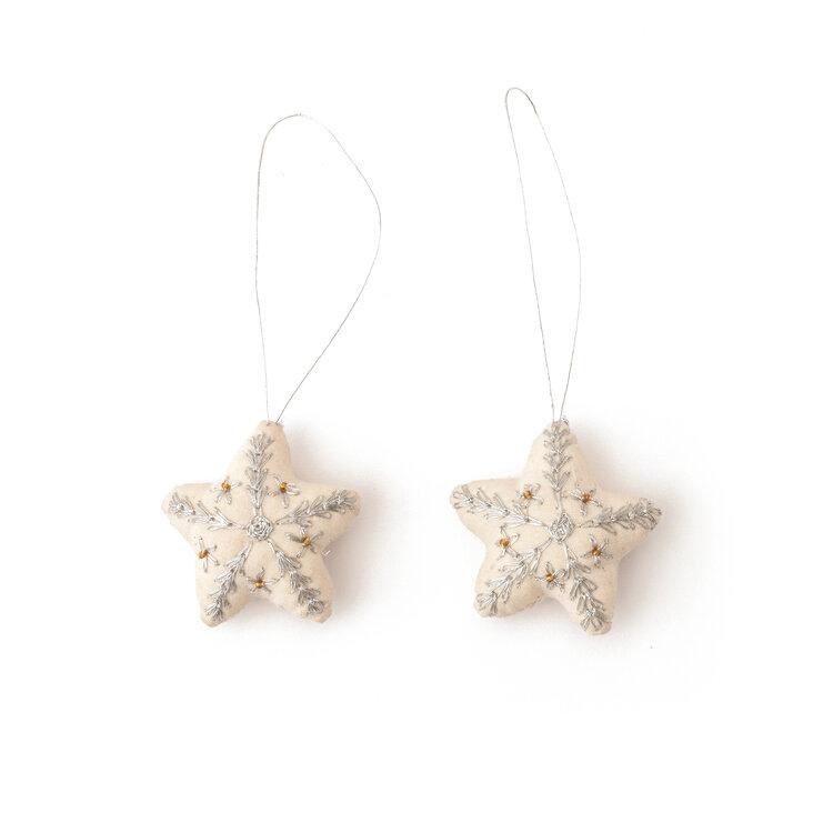 Christmas Stars Silver 2pkg