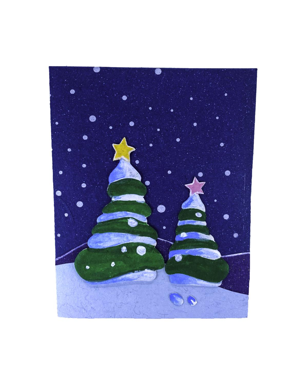 Elecosy Christmas Greeting Card Blue Sky