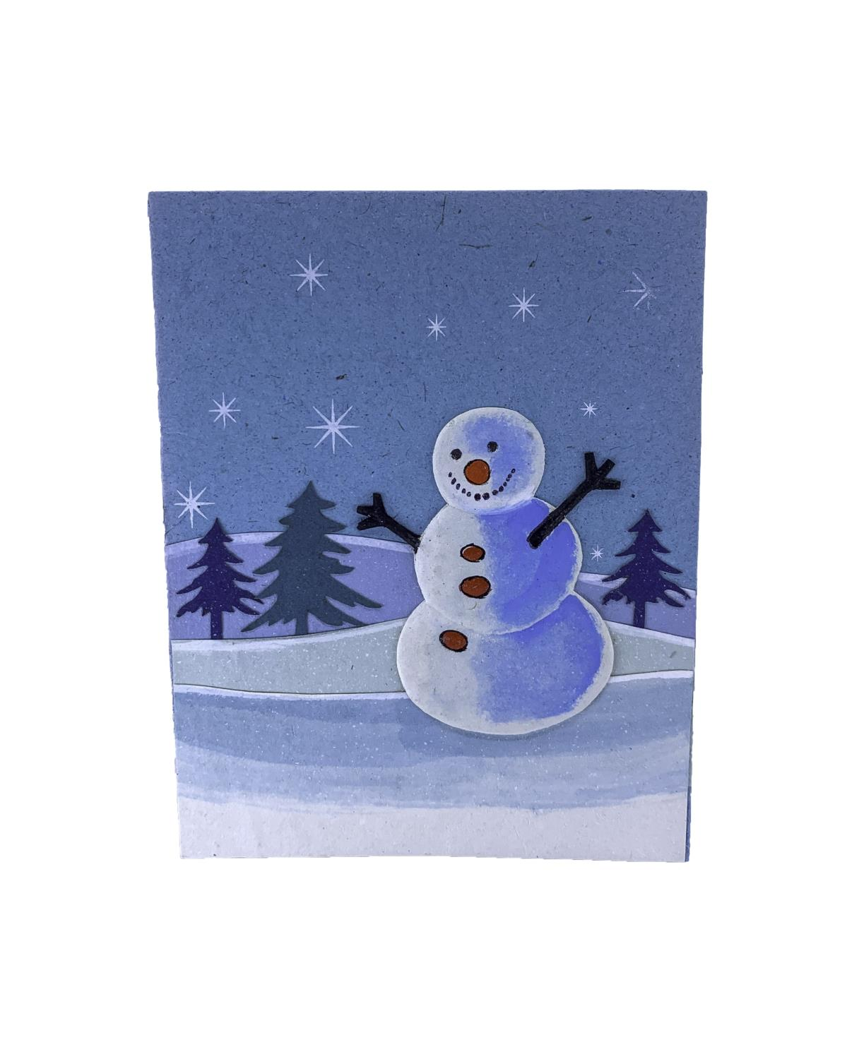 Elecosy christmas greeting card Snowman