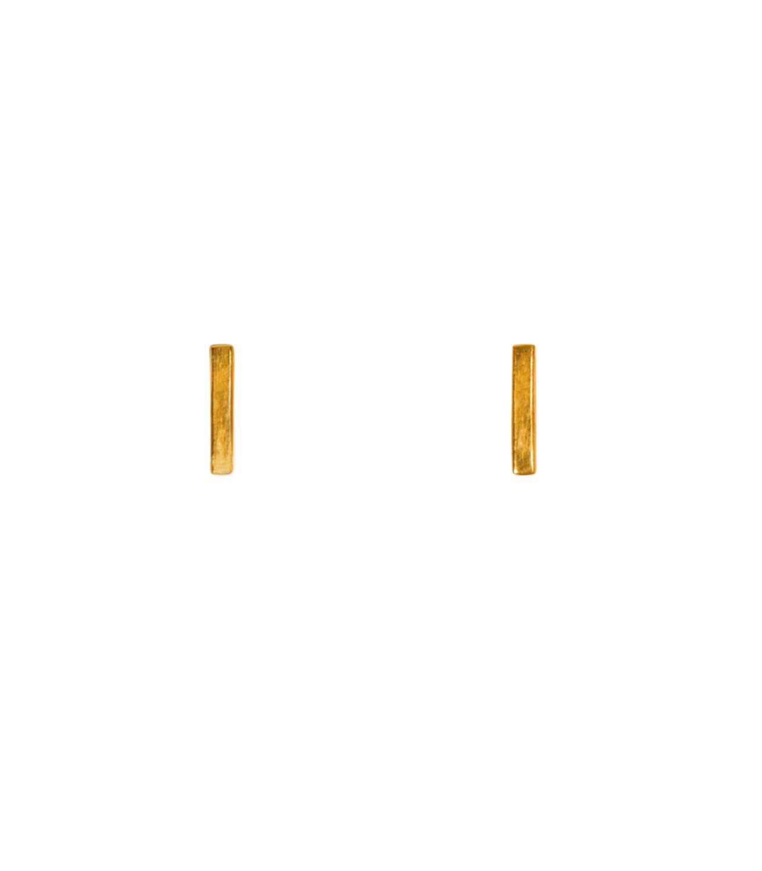 Rise Stud Goldtoned Brass