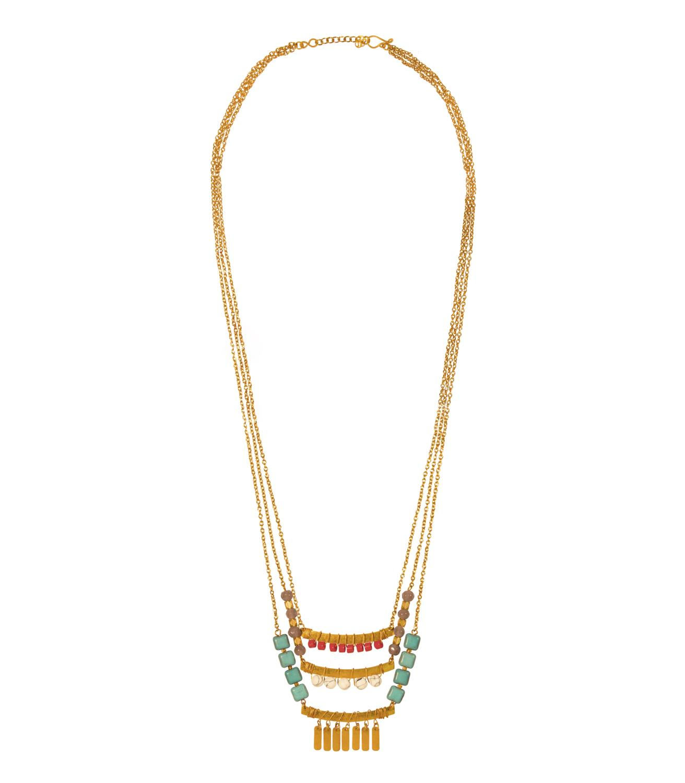 Maya Necklace Goldtoned Brass