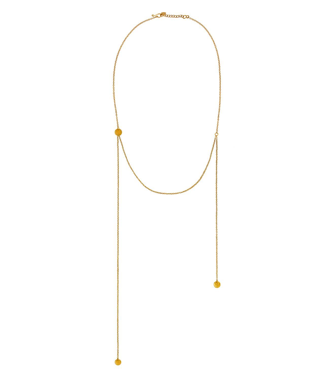 Voyager Necklace Goldtoned Brass