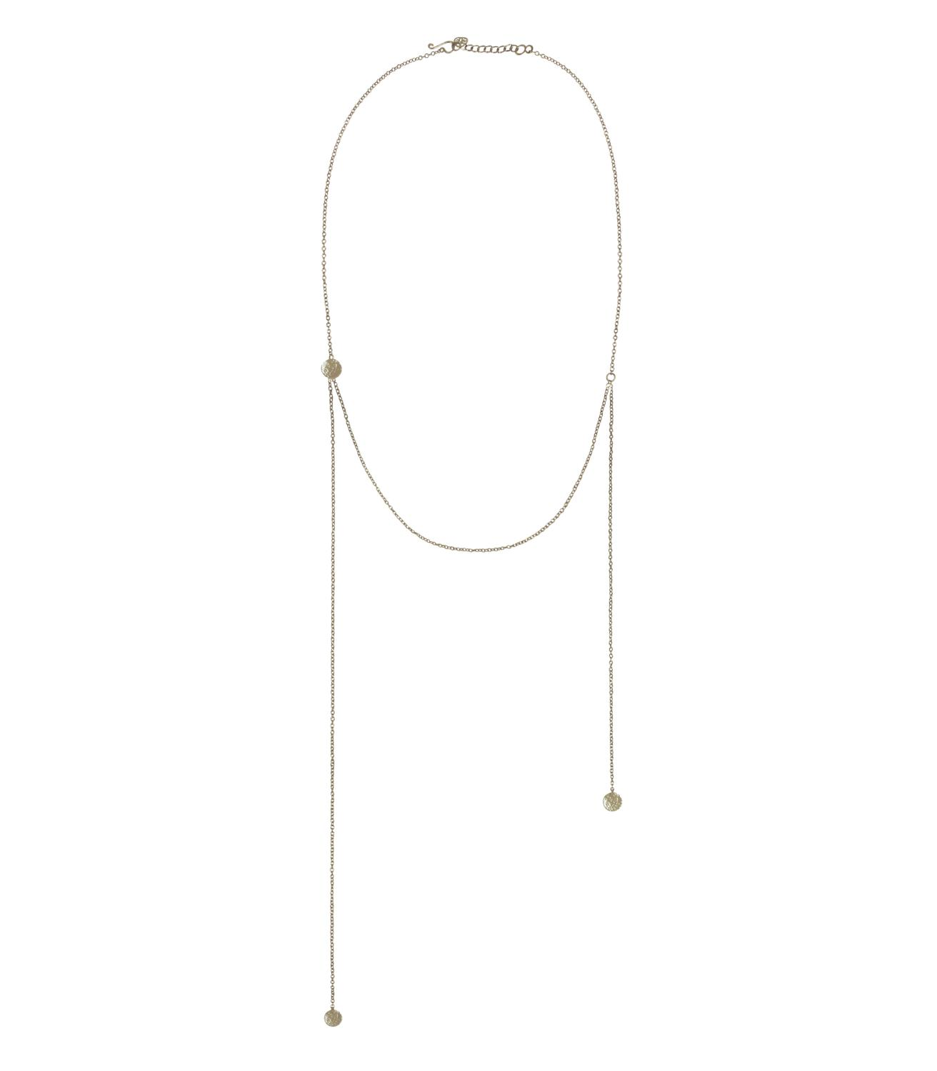 Voyager Necklace Silvertoned Brass
