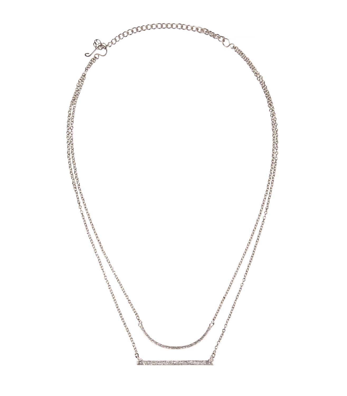 Laurel Necklace Silvertoned Brass