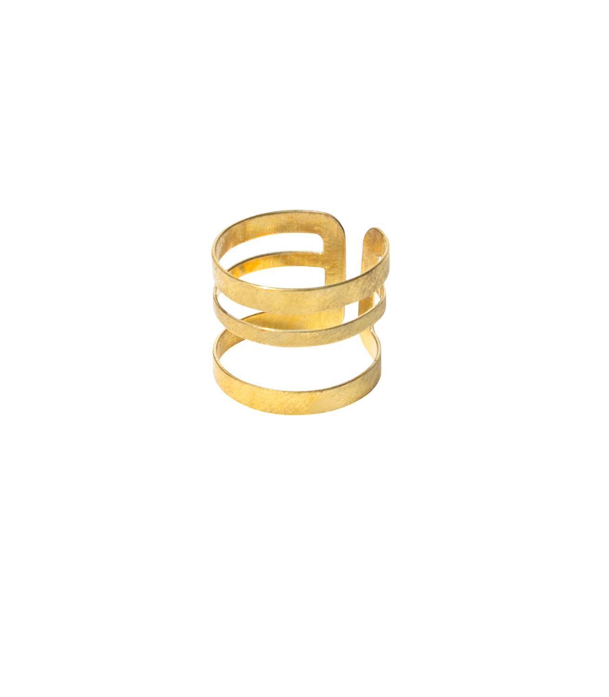 Mojave Ring Goldtoned Brass
