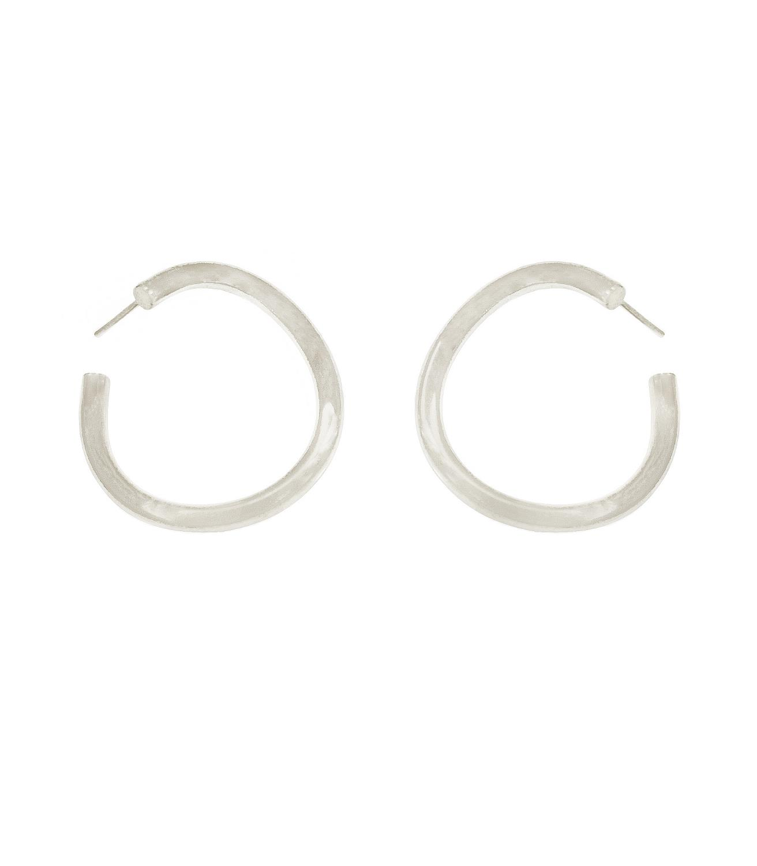 Whisp Earrings Silvertoned Brass