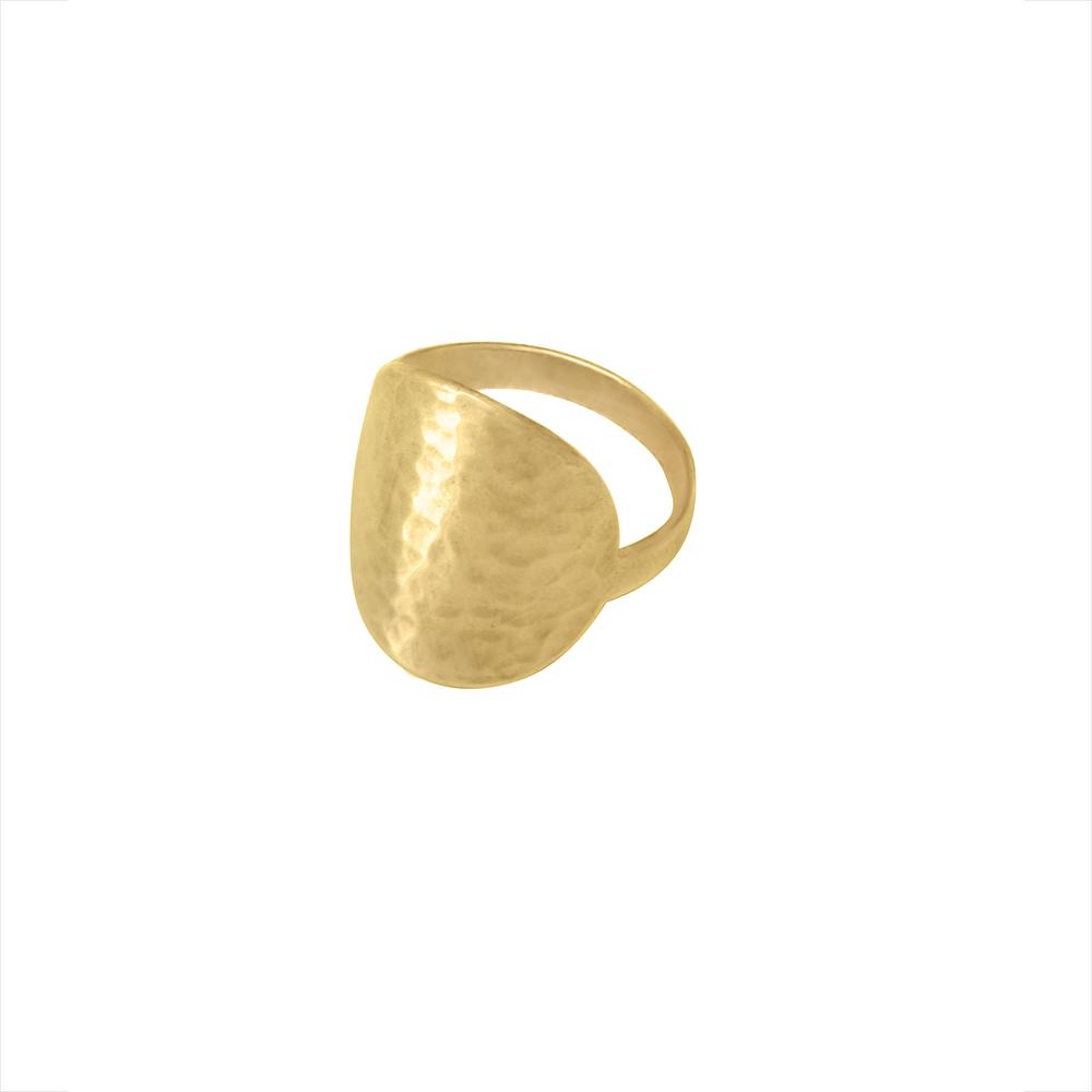 Radiant Ring Goldtoned Brass